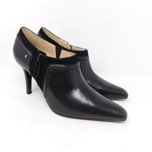 New Cole Haan Black Suede Ankle Booties 9.5
